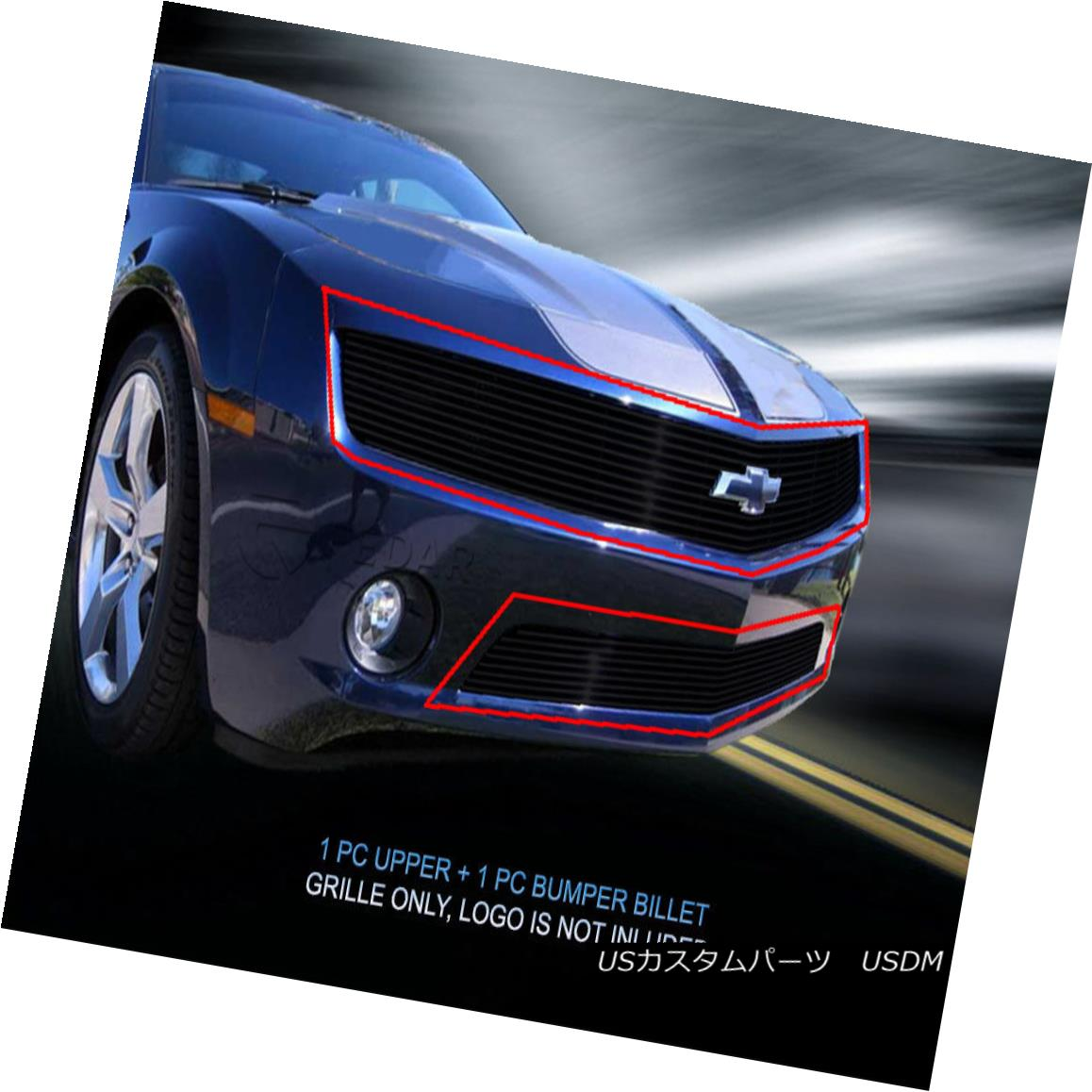グリル Fedar Fits 2010-2013 Chevy Camaro LT V6/LS V6 Black Billet Grille Insert Fedarは2010-2013年を適合させるChevy Camaro LT V6 / LS V6 Black Billet Grille Insert