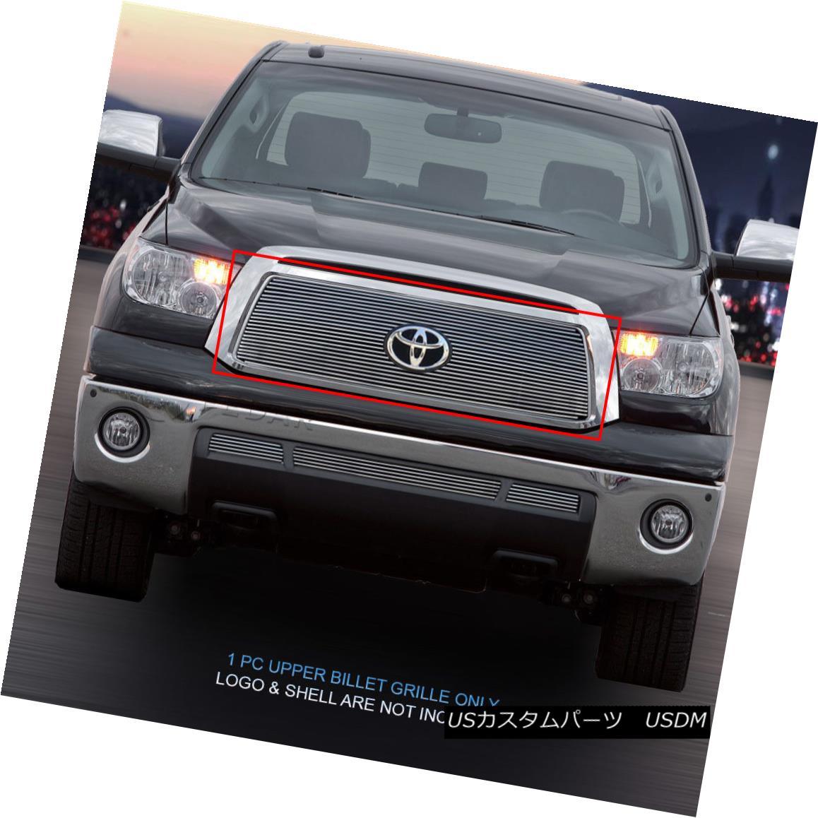 グリル 2010-2013 Toyota Tundra Billet Grille Grill 1 Pc Upper Fedar 2010-2013トヨタトンドラビレットグリルグリル1 Pcアッパーフェルダ