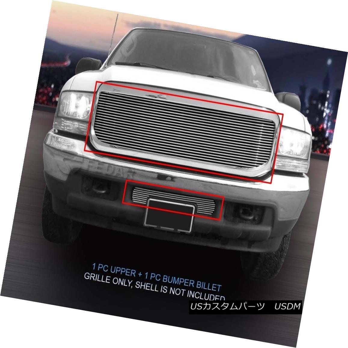 グリル Fits 99-04 Ford Excursion/F-250/F-350/F-450/F-550 Superduty Chrome Billet Grille F-550 F-550スーパーデューティクロム・ビレット・グリル(F-550 F-550 / F-350 / F-450 /