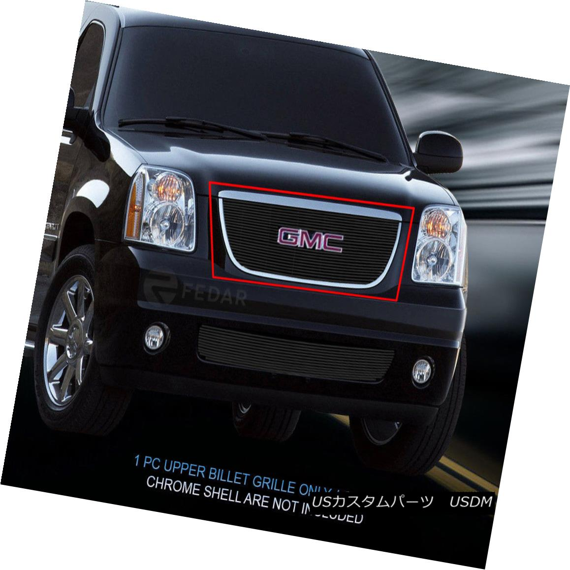 グリル Fedar Fits 2007-2013 GMC Yukon Black Main Upper Billet Grille Fedar Fits 2007-2013 GMC Yukon Blackメインアッパービレットグリル