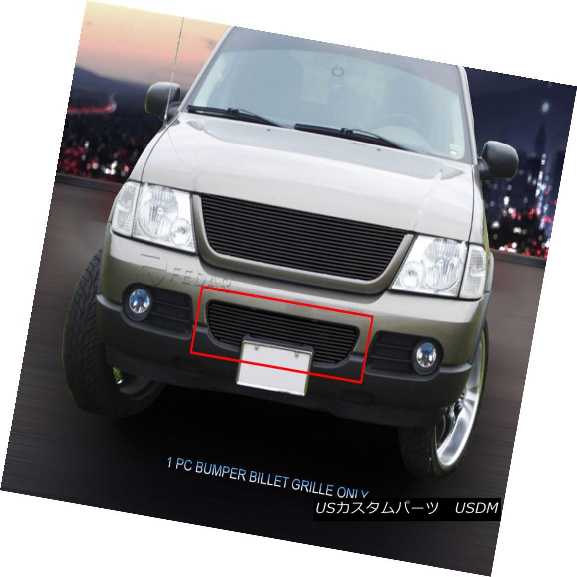 グリル 02-05 Ford Explorer Black Billet Grille Bumper Grill Insert Fedar 02-05フォードエクスプローラーブラックビレットグリルバンパーグリルインサートフェルダー