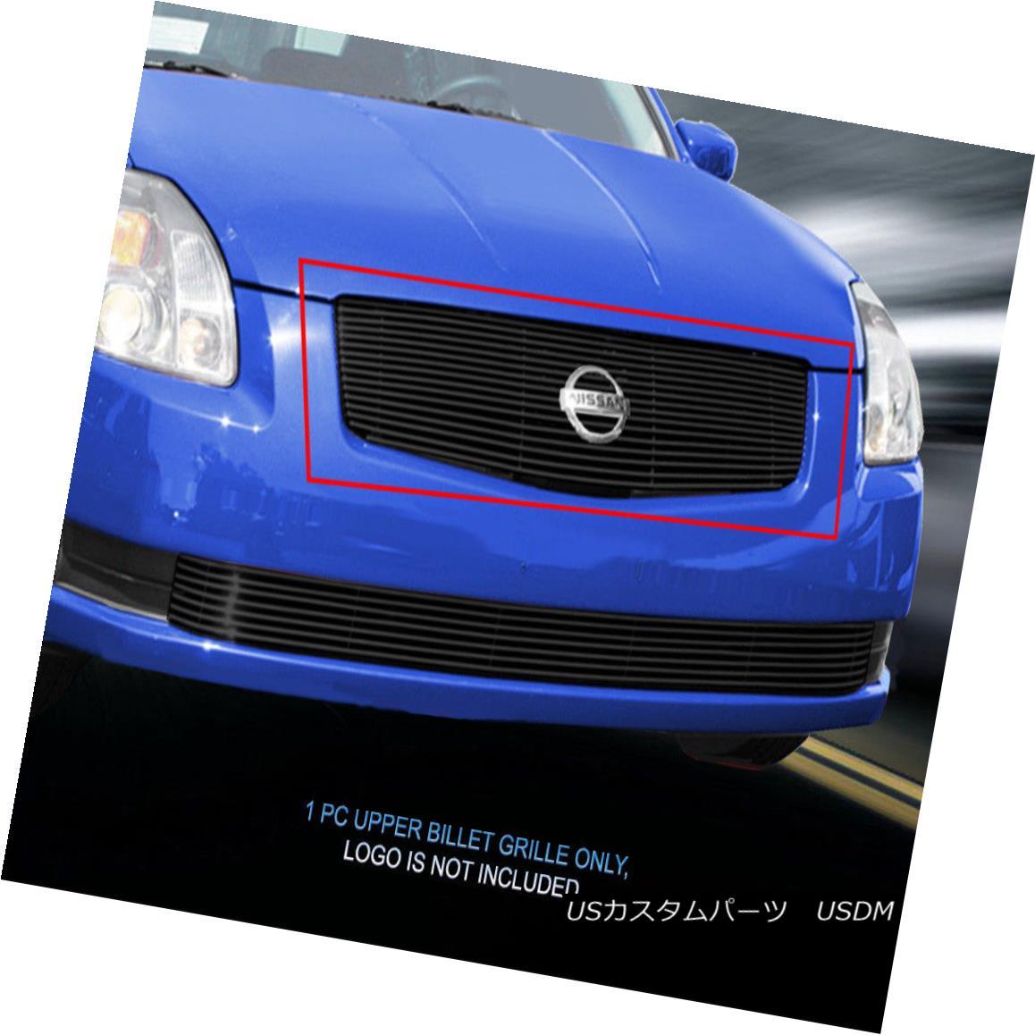 グリル Fits 04-06 Nissan Sentra Black Billet Grille Upper Grill Insert Fedar フィット04-06日産セントラブラックビレットグリルアッパーグリルインサートフェルダ