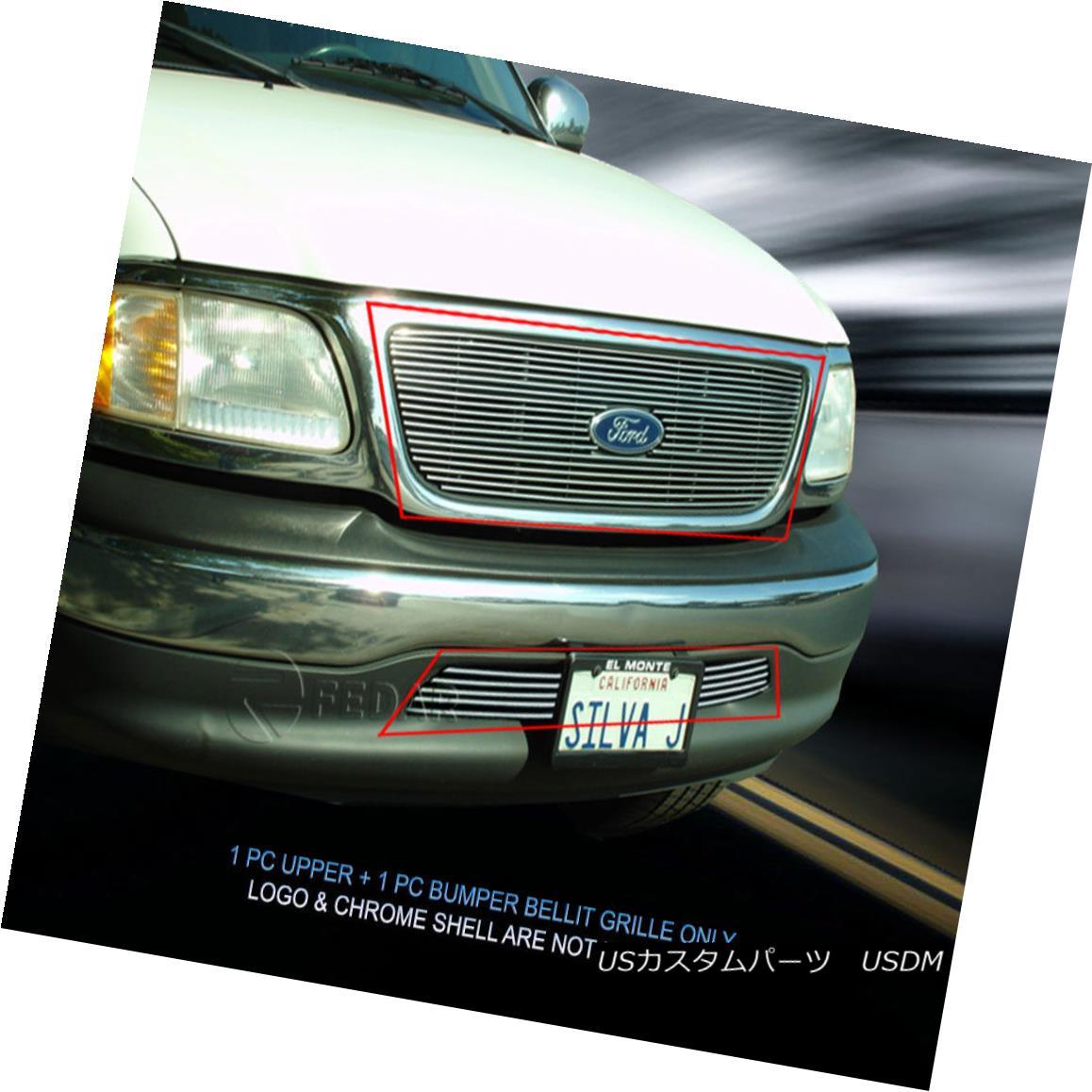 グリル 99-03 Ford F-150 F150 2WD Billet Grille Combo Grill Insert Fedar 99-03フォードF-150 F150 2WDビレットグリルコンボグリルインサートフェルダー