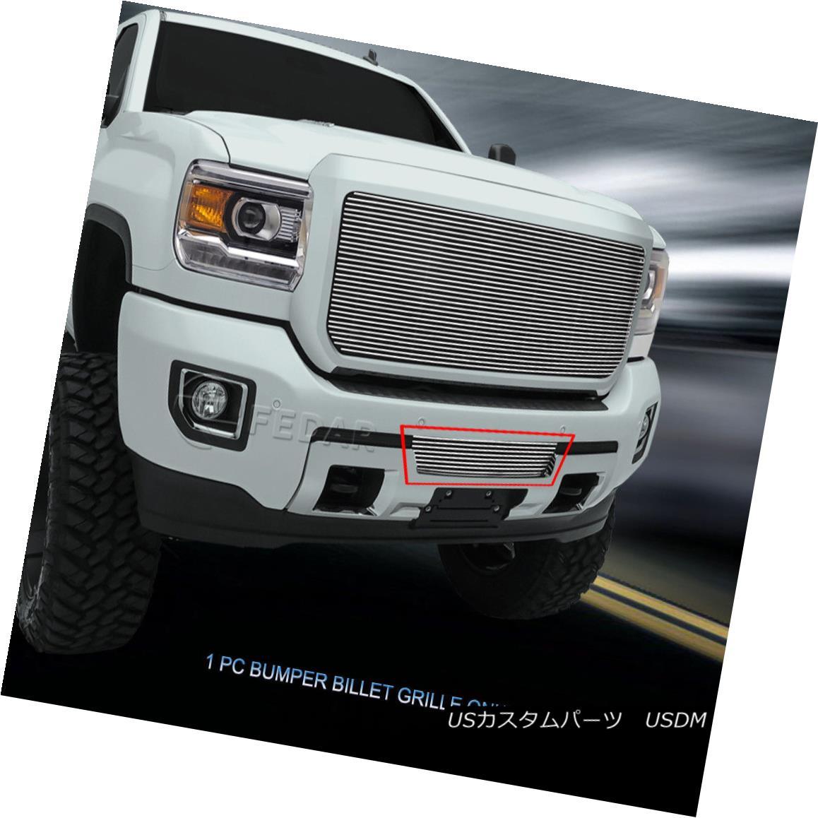 グリル Fedar Fits 2015-2017 GMC Sierra 2500HD/3500HD Polished Bottom Billet Grille Fedarフィット2015-2017 GMC Sierra 2500HD / 3500HDポリッシュボトムビレットグリル