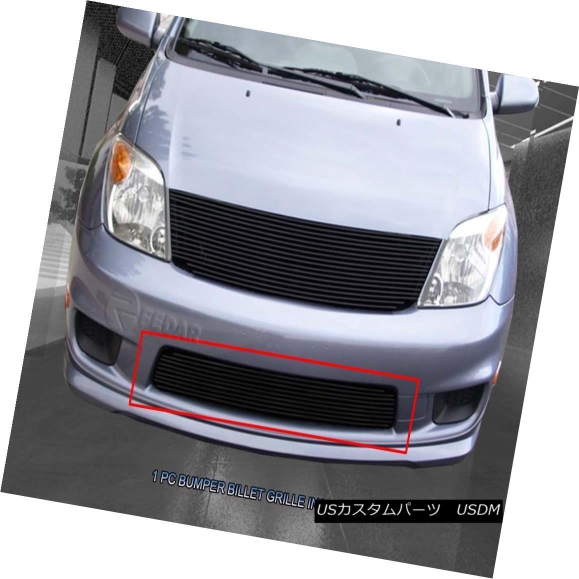 グリル For 2003-2007 Scion XA Black Bolt-On Billet Grill Bumper Grill Insert Fedar 2003-2007シオンXAブラックボルトオンビレットグリルバンパーグリルインサートFedar用