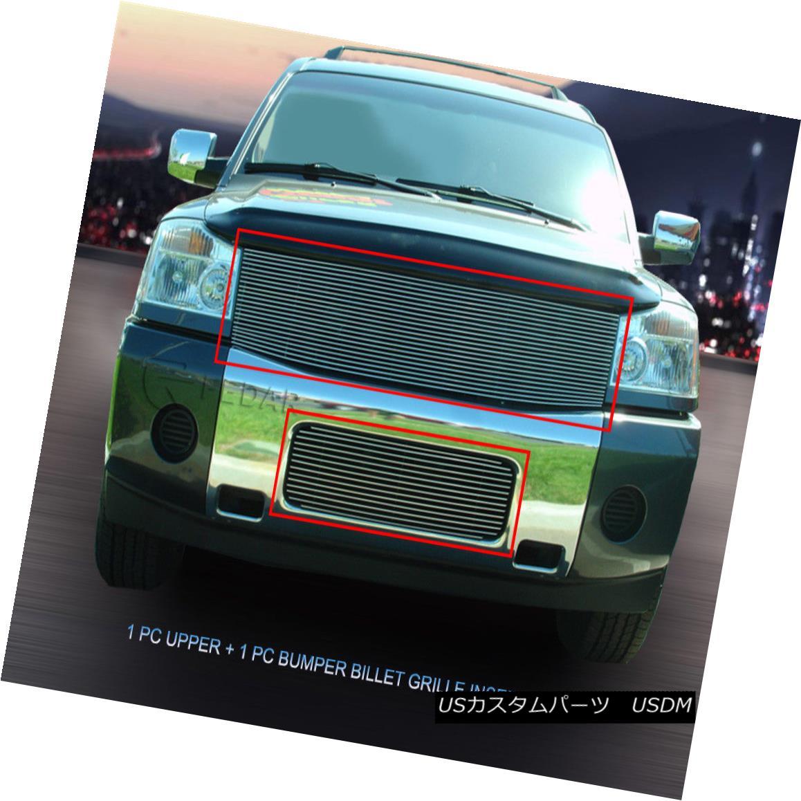 グリル Fedar Fits 2004-2007 Nissan Titan/Armada Polished Billet Grille Combo Fedar Fits 2004-2007 Nissan Titan / Armadaポリッシュビレットグリルコンボ