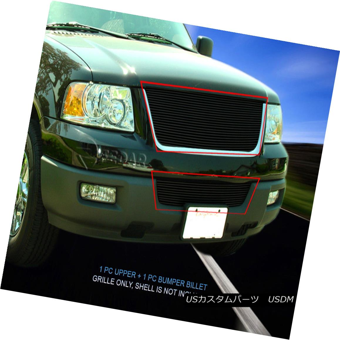 グリル 03-06 Ford Expedition Black Billet Upper Grille Grill Combo Insert Fedar 03-06フォード遠征Black BilletアッパーグリルグリルコンボインサートFedar