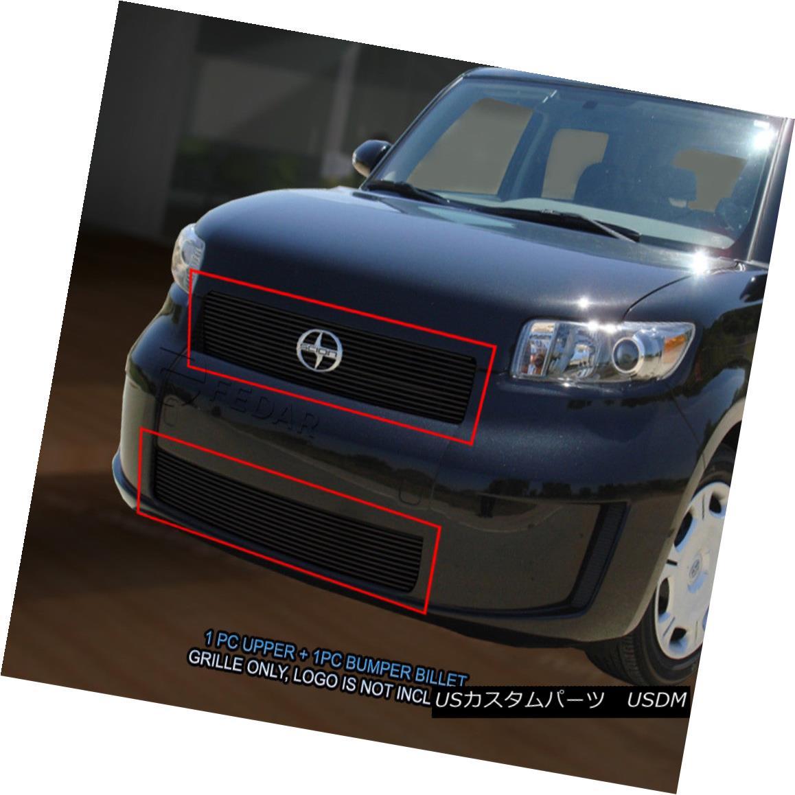 グリル 08-10 Scion XB Black Billet Grille Grill Combo Insert 08-10サイオンXBブラックビレットグリルグリルコンボインサート