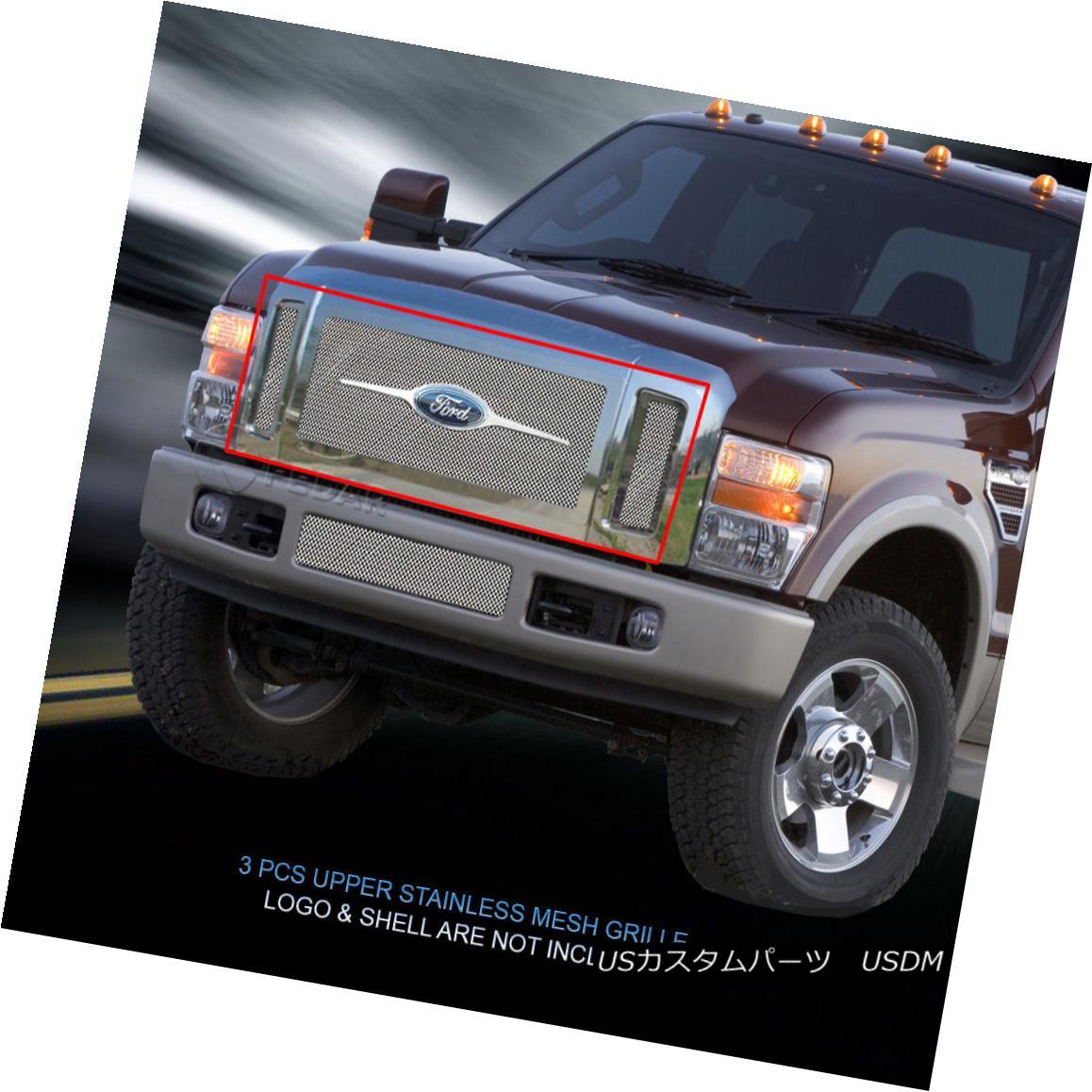 グリル Fedar Fits 2008-2010 Ford F250/F350 Polished Wire Mesh Grille Insert Fedar Fitting 2008-2010 Ford F250 / F350ポリッシュワイヤメッシュグリルインサート