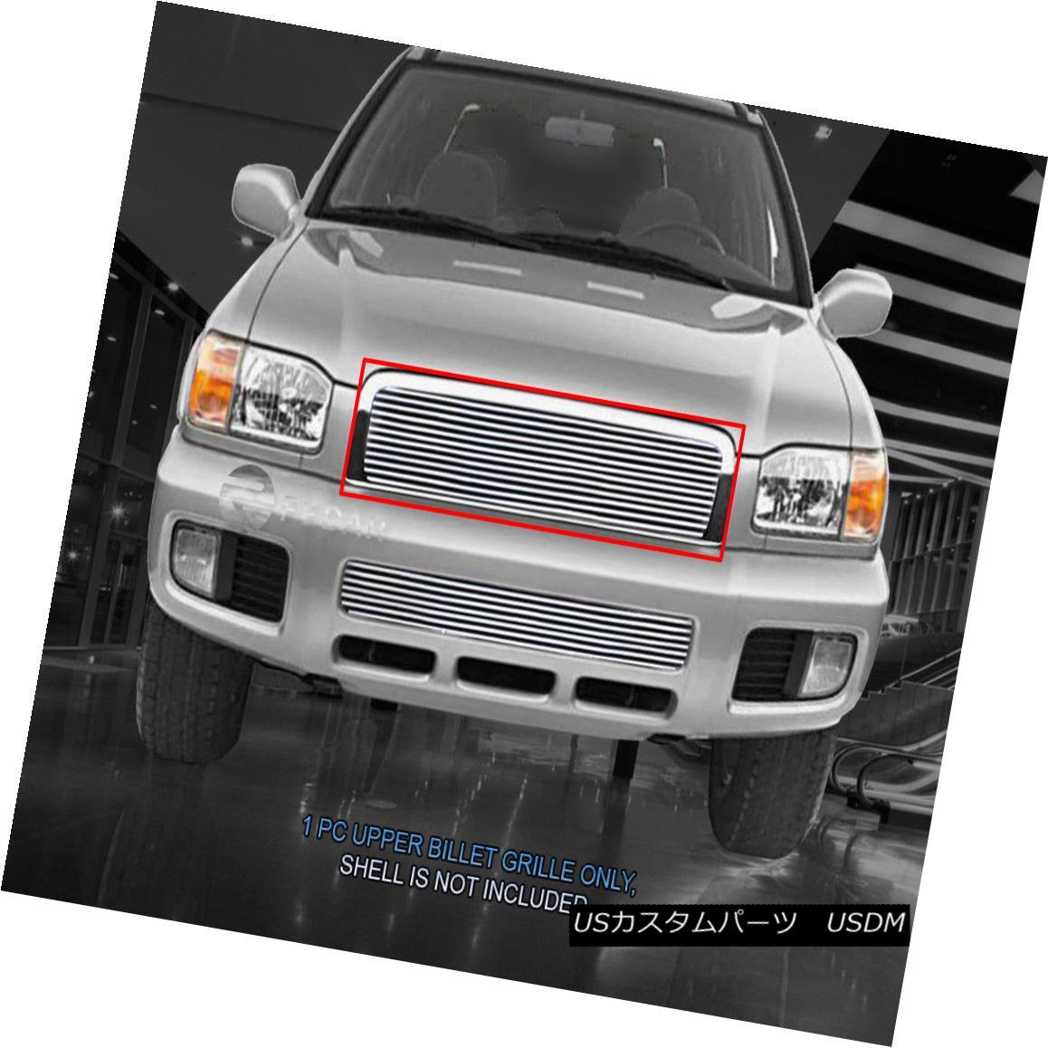 グリル Fedar Fits 00-01 Nissan Pathfinder Polished Billet Grille Overlay Fedar Fits 00-01日産パスファインダポリッシュビレットグリルオーバーレイ