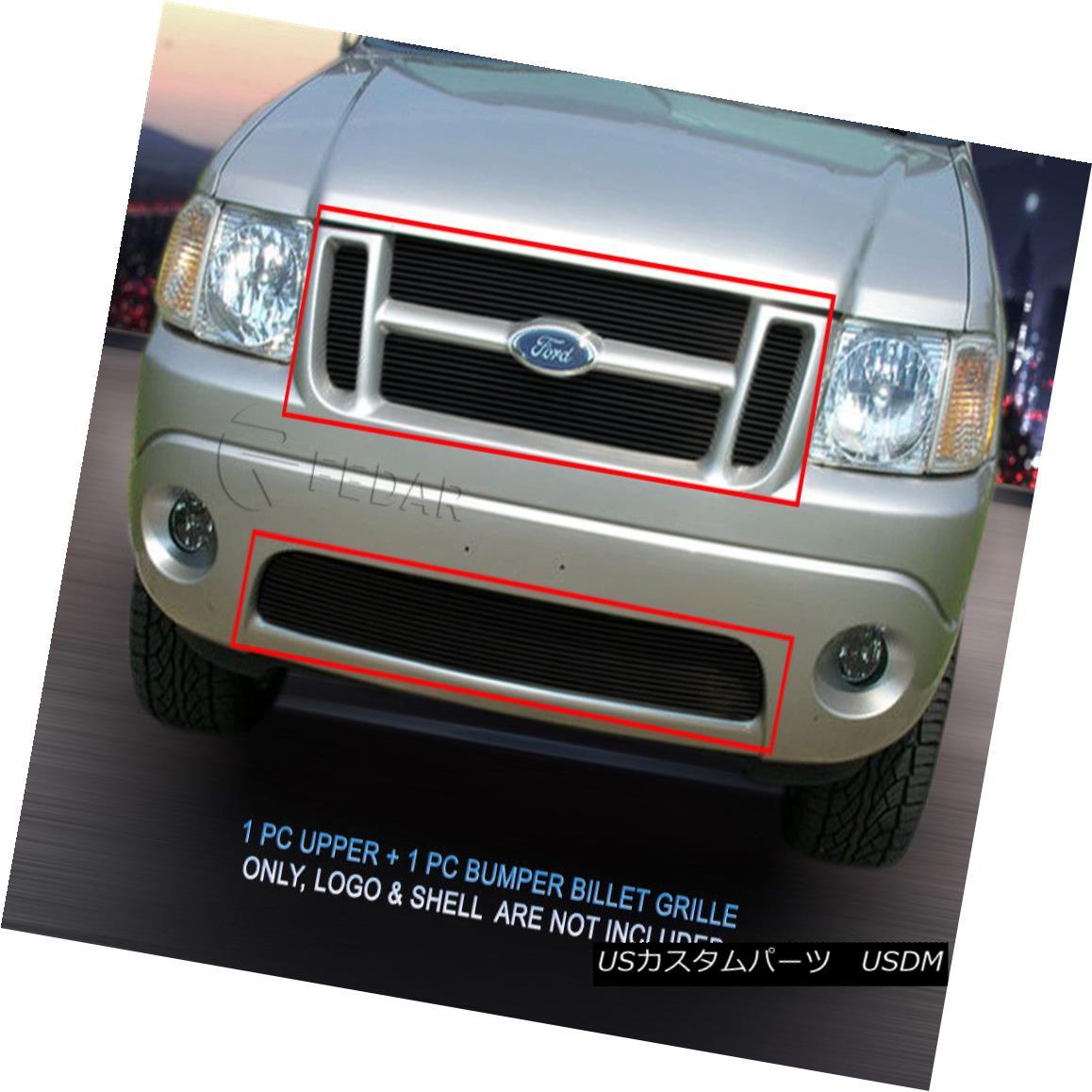 グリル 01-05 Ford Explorer Sport Trac Black Billet Grille Grill COMBO Insert Fedar 01-05 Ford Explorer Sport TracブラックビレットグリルグリルCOMBO Insert Fedar