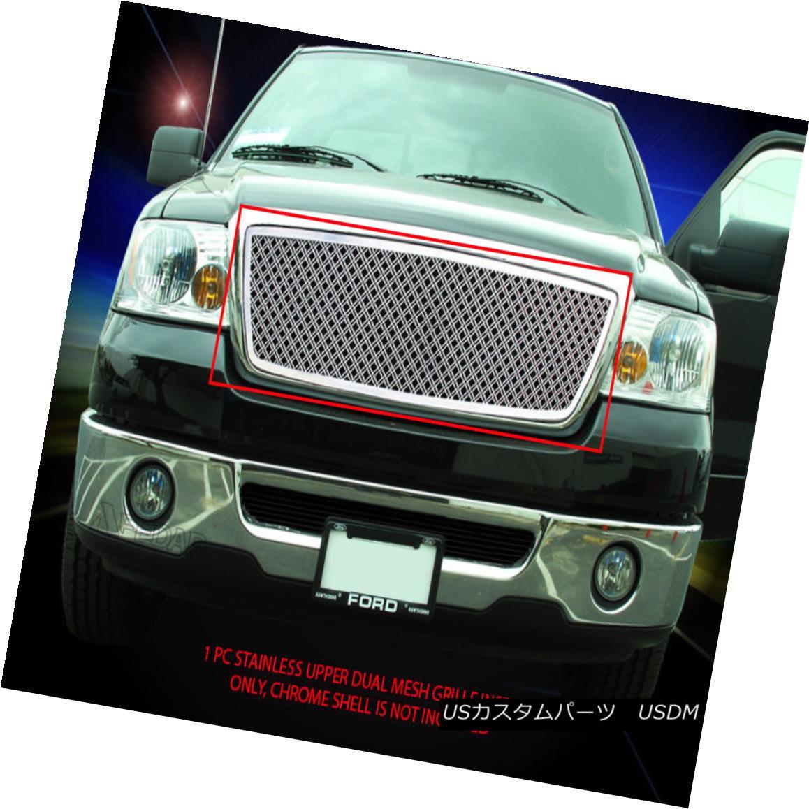 グリル For 04-08 Ford F-150 F150 Stainless Steel Dual Mesh Grille Grill Insert Fedar 04-08 Ford F-150 F150ステンレススチールデュアルメッシュグリルグリルインサートFedar