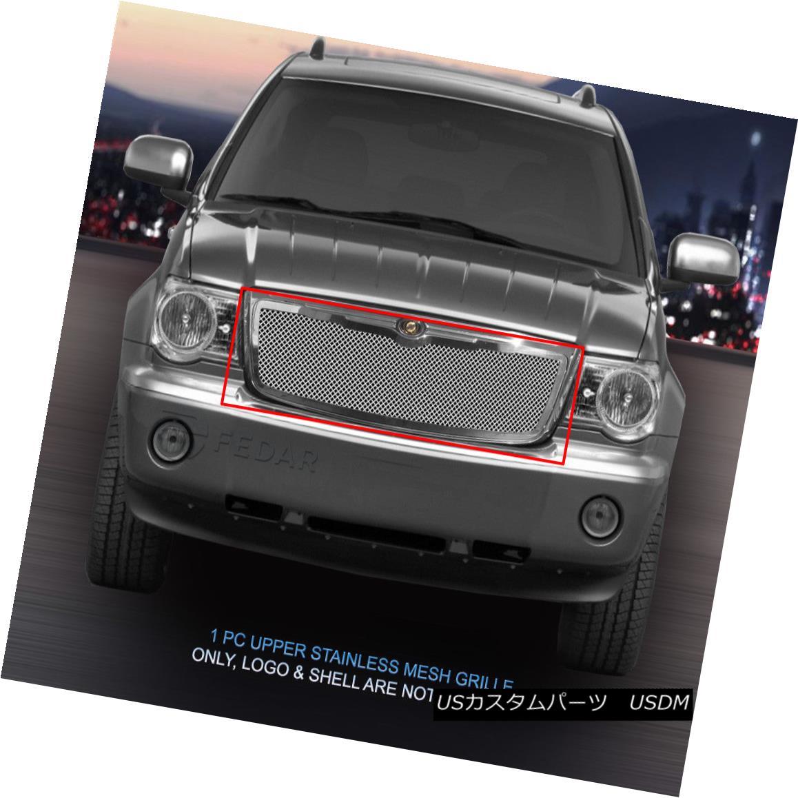 グリル Fedar Fits 2007-2009 Chrysler Aspen Wire Mesh Grille Combo Insert Fedarは2007-2009クライスラーアスペンワイヤーメッシュグリルコンボインサートを適合