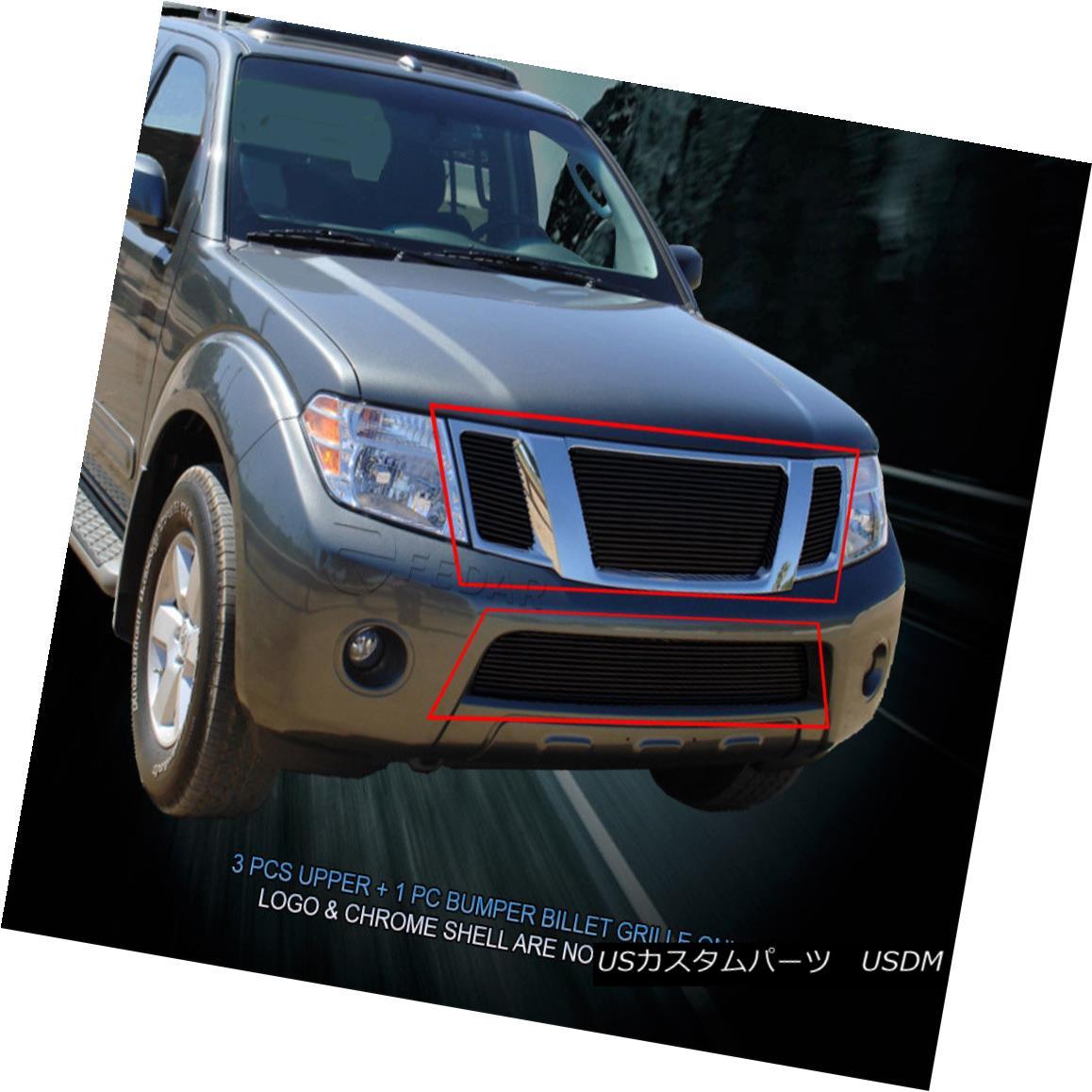 グリル Fedar Fits 2008-2012 Nissan Pathfinder Black Overlay Billet Grille Combo Fedar Fits 2008-2012 Nissan Pathfinder Blackオーバーレイビレットグリルコンボ