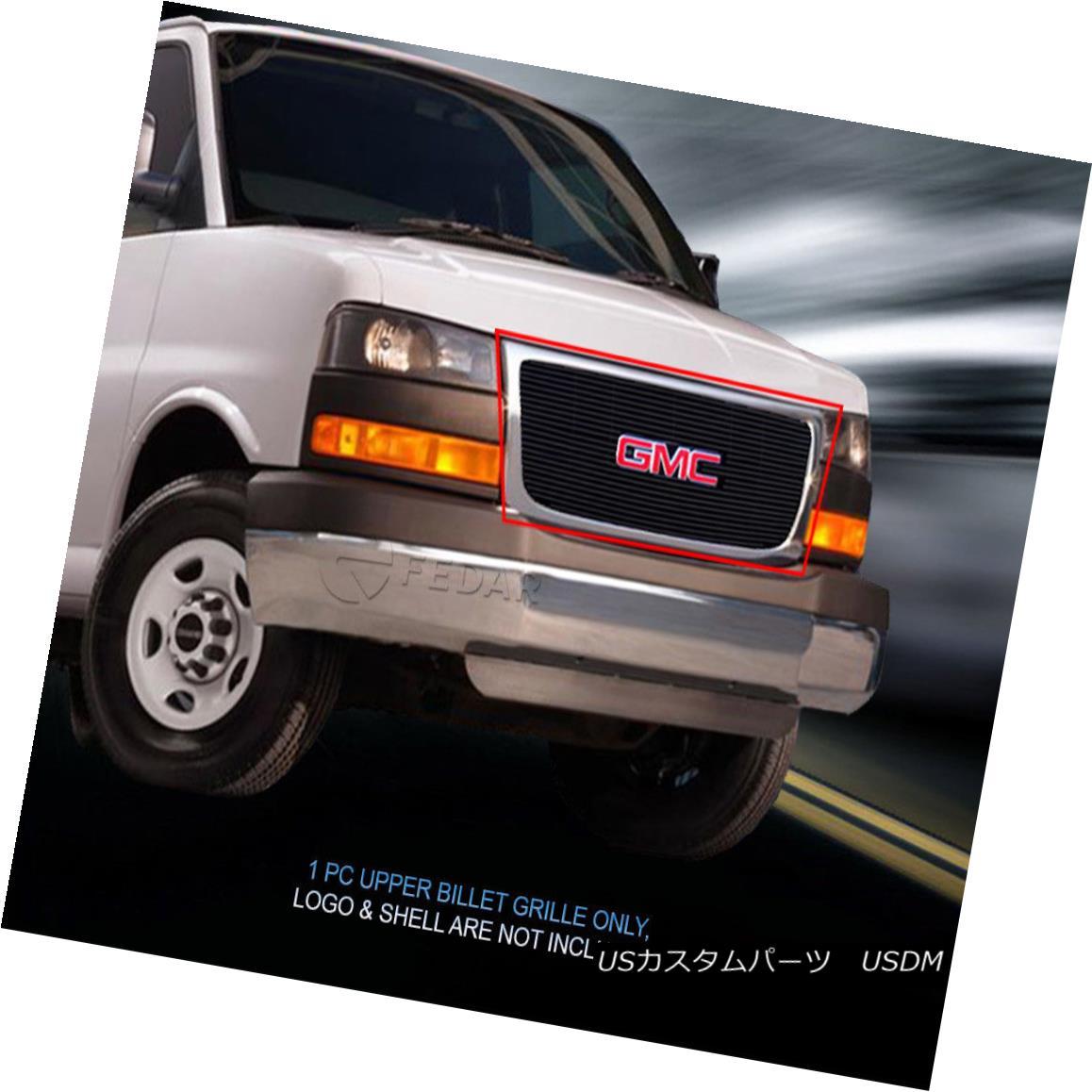 グリル For 03-16 GMC Savana Van Black Billet Grille Insert Fedar 03-16 GMCサバナ・バン・ブラック・ビレット・グリル・インサート・フェルダ