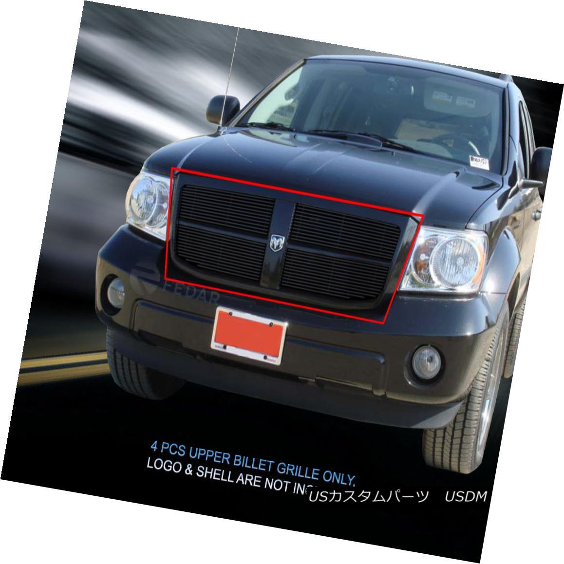 グリル Fedar Fits 07-10 Dodge Durango Black Billet Grille Overlay Fedar Fit 07-10 Dodge Durangoブラックビレットグリルオーバーレイ