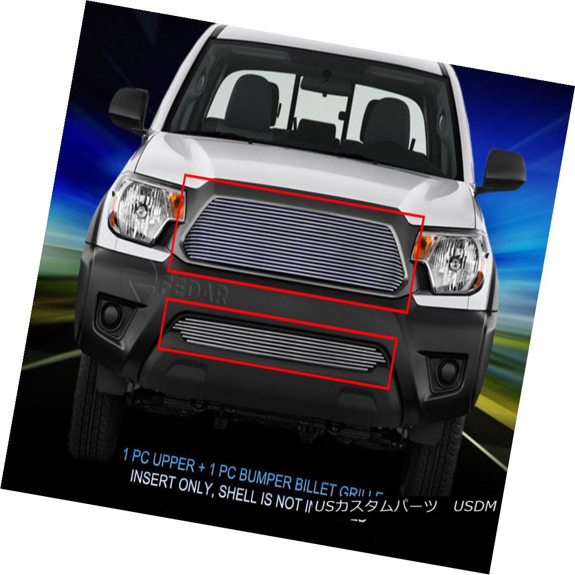 グリル Fedar Fits 2012-2015 Toyota Tacoma Polished Overlay Billet Grille Combo Fedarは2012年から2015年にToyota Tacomaを磨いたオーバーレイビレットグリルコンボ