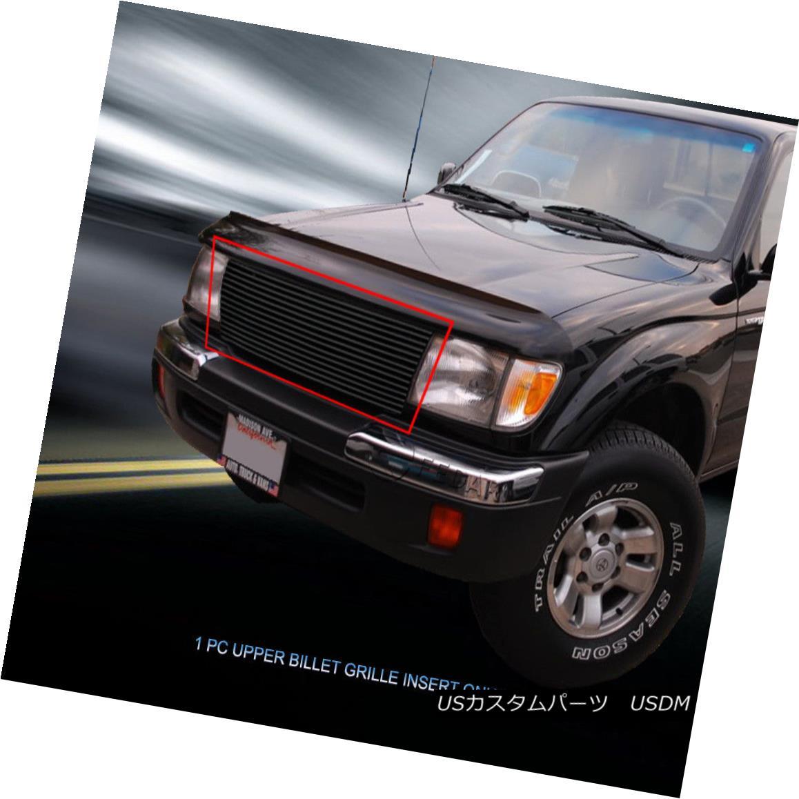 グリル Fedar Fits 1997-2000 Toyota Tacoma 2WD Black Billet Grille Upper Grill Insert Fedarフィット1997-2000トヨタタコマ2WDブラックビレットグリルアッパーグリルインサート