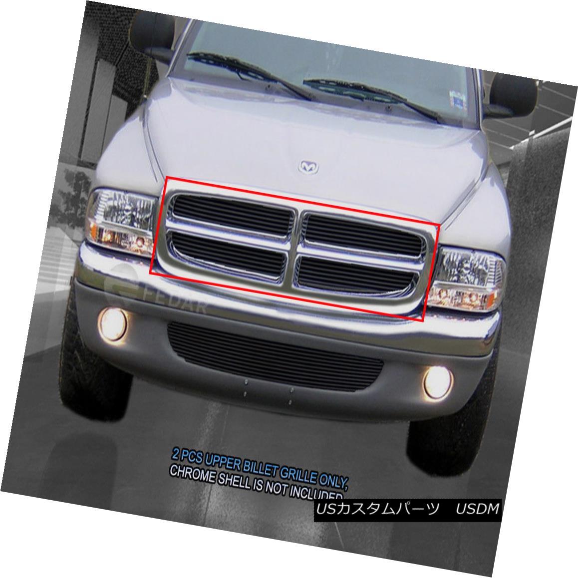グリル 97-03 Dodge Durango 97-04 Dakota Black Billet Grille Grill Insert Fedar 97-03 Dodge Durango 97-04 Dakota Black BilletグリルグリルインサートFedar