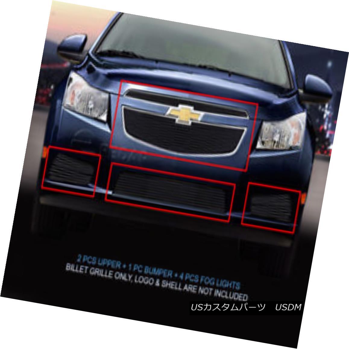 グリル Fedar Fits 2011-2014 Chevy Cruze LT/LTZ Black Billet Grille Insert Fedarは2011-2014シボレー・クルーズLT / LTZブラック・ビレット・グリル・インサートを適合