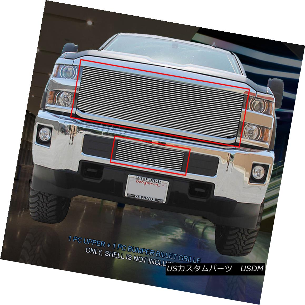 グリル Fits 2015-2016 Chevy Silverado 2500HD/3500HD Billet Grille Combo Insert Fedar フィット2015-2016シボレーシルバラード2500HD / 3500HDビレットグリルコンボインサートFedar
