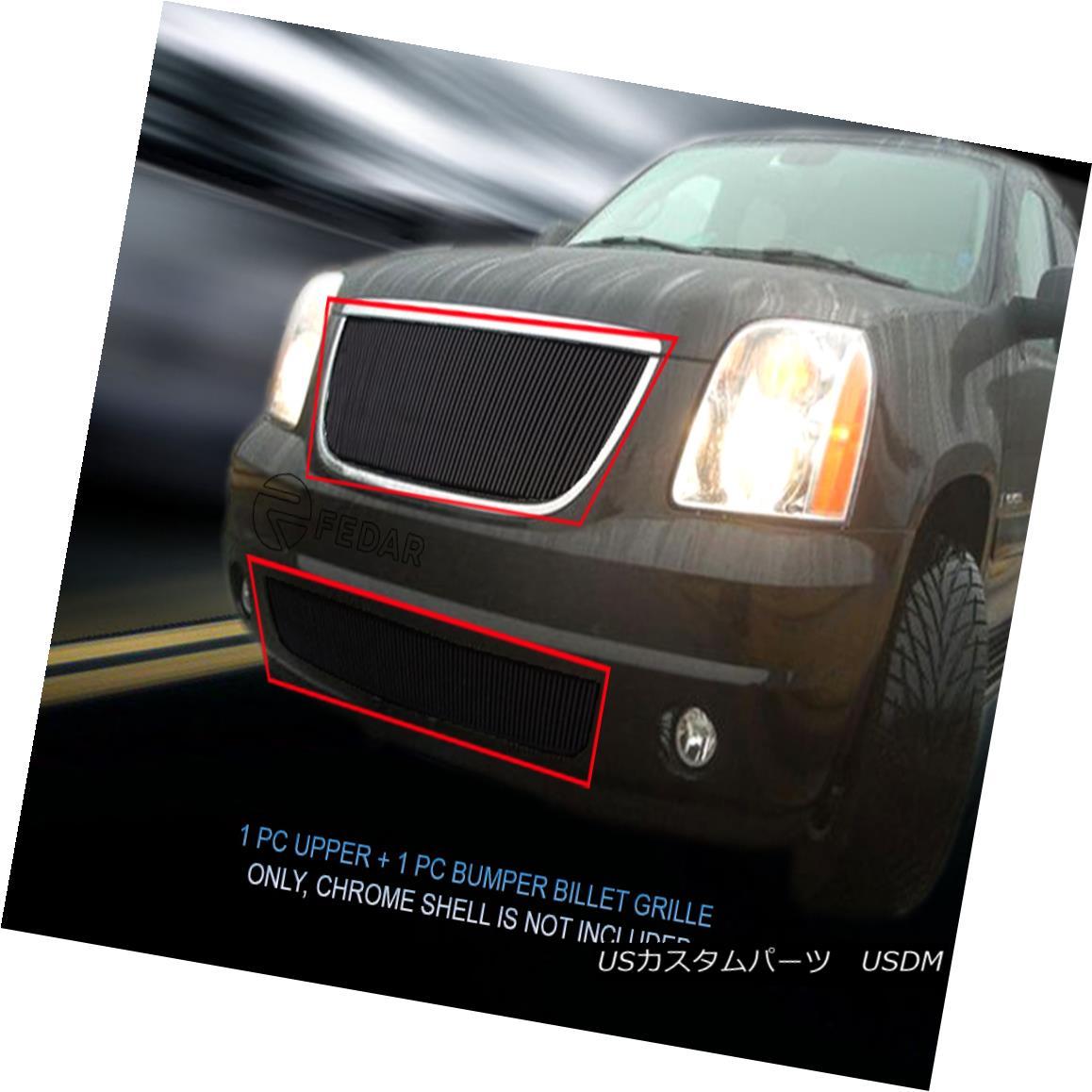 グリル Fedar Fits 07-13 GMC Yukon Combo Black Billet Grille Overlay Fedar Fits 07-13 GMC Yukon Comboブラックビレットグリルオーバーレイ