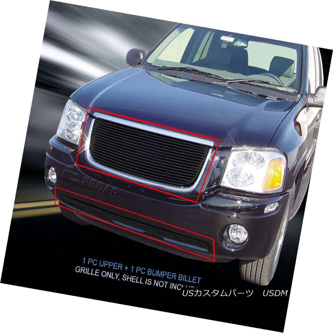 グリル Fits 2001-2009 GMC Envoy Black Billet Grille Combo Grill Fedar 2001-2009 GMC Envoy Black Billet Grille Combo Grill Fedarに適合