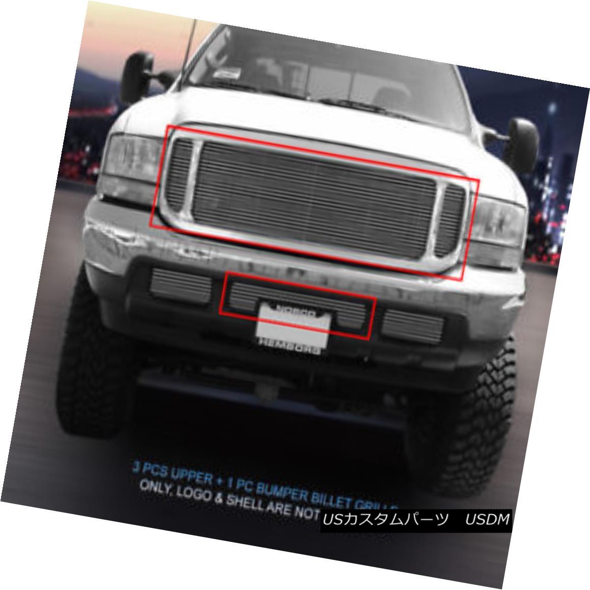 グリル Fits 1999-2004 Ford F-250/F-350/F-450/ F-550/Excursion Polished Billet Grille 1999-2004フォードF-250 / F-350 / F-450 / F-550 /エクスカーション nポリッシュビレットグリル