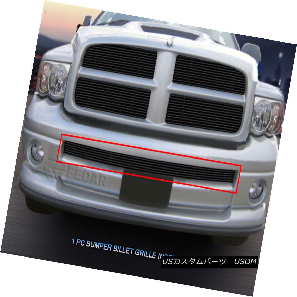 グリル 2002 - 2005 Dodge Ram Sport Black Billet Grille Lower Bumper Inserts Fedar 2002 - 2005ダッジラムスポーツブラックビレットグリルロワーバンパーインサートFedar