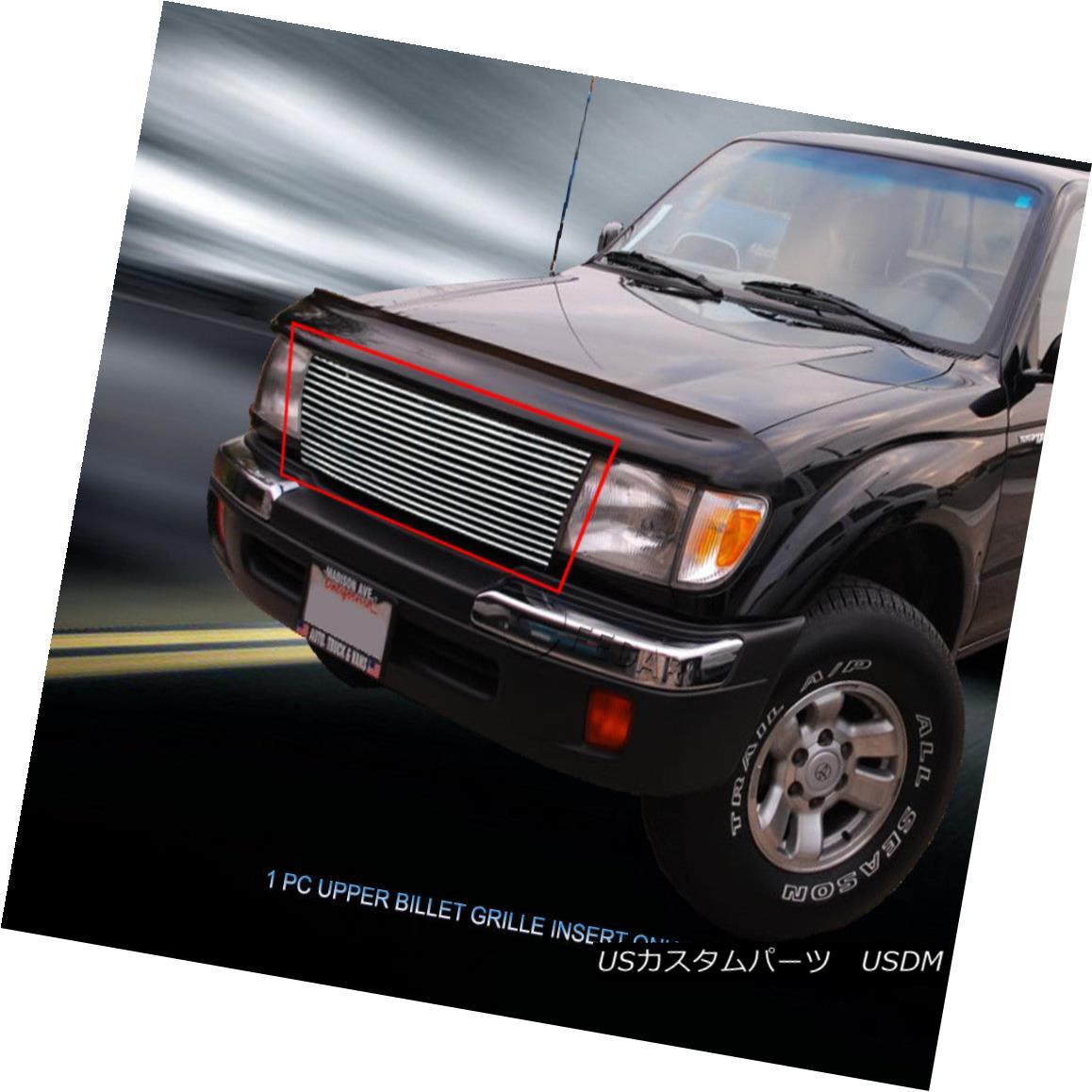 グリル Fedar Fits 1997-2000 Toyota Tacoma 2WD Polished Billet Grille Upper Grill Insert Fedarフィット1997-2000トヨタタコマ2WDポリッシュビレットグリルアッパーグリルインサート