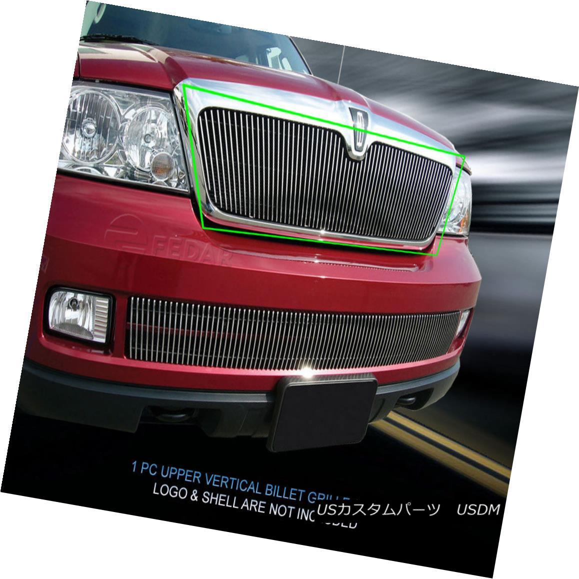 グリル Fedar Fits 2003-2006 Lincoln Navigator Polished Billet Grille Insert Fedar Fitting 2003-2006リンカーンナビゲーターPolished Billet Grille Insert