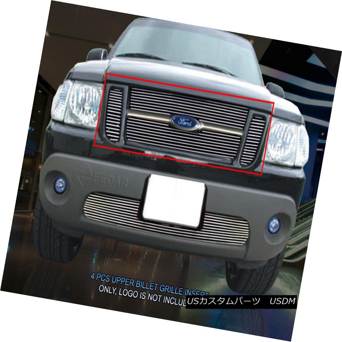 グリル 01-05 Ford Explorer Sport/Sport Trac Billet Upper Grille Grill Insert Fedar 01-05フォードエクスプローラースポーツ/スポーツTrac BilletアッパーグリルグリルインサートFedar