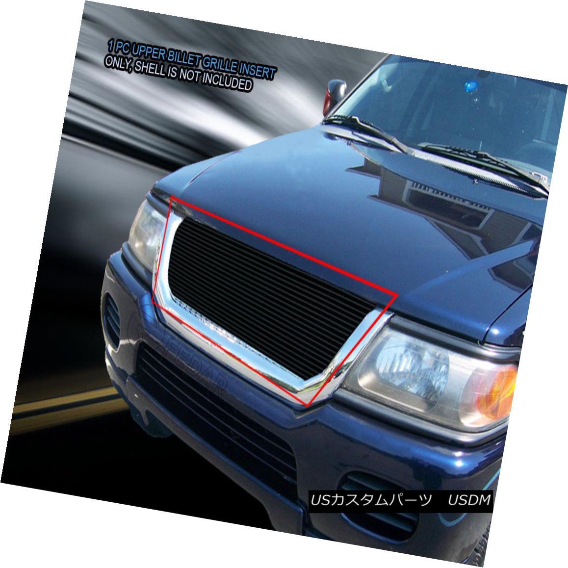 グリル For 01-04 Mitsubishi Montero Sport Black Billet Grille Grill Insert Fedar 01-04ミツビシモンテロスポーツブラックビレットグリルグリルインサートフェルダ