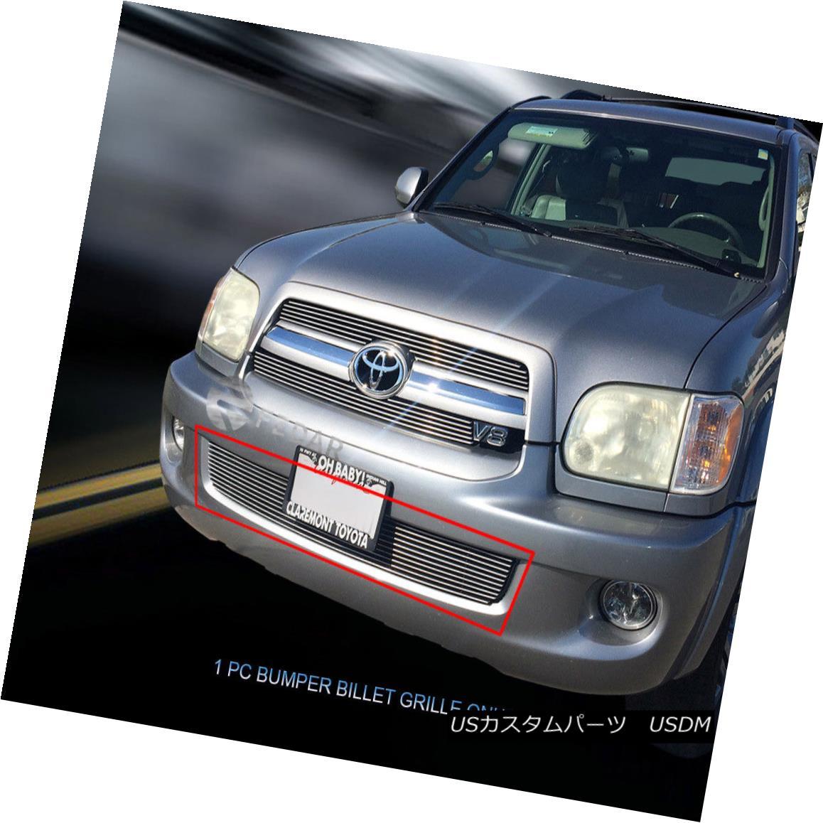 グリル Fedar Fits 2005-2007 Toyota Sequoia Polished Lower Bumper Billet Grille Fedarは2005-2007年に合うToyota Sequoiaは磨かれた下部のバンパーのビレットの格子を磨いた