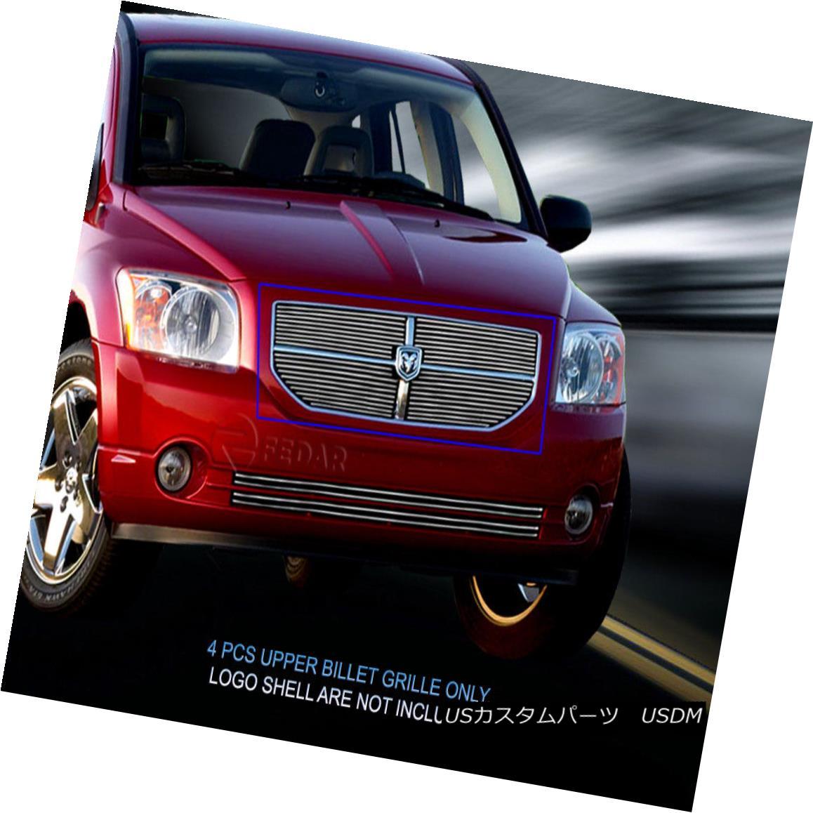 グリル For 2006-2012 Dodge Caliber Bolt-On Billet Grille Upper Grill Insert Fedar 2006-2012ダッジキャリバーボルトオンビレットグリルアッパーグリルインサートフェルダ
