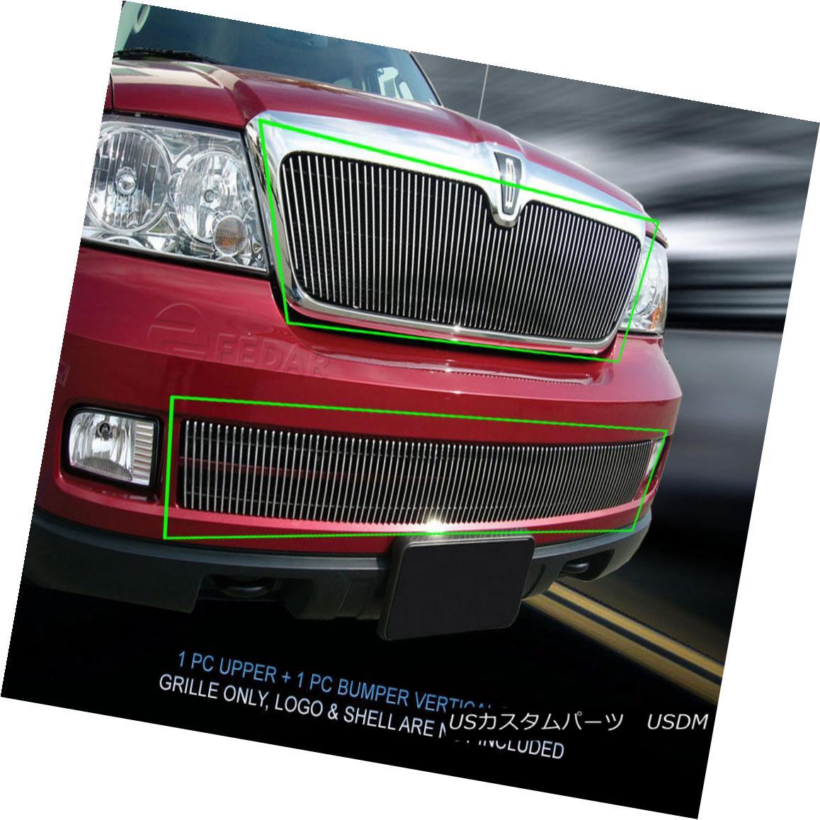 グリル Fits 05-06 Lincoln Navigator Billet Grille Grill Combo Vertical Insert Fedar フィット05-06リンカーンナビゲータービレットグリルグリルコンボ垂直挿入フェルダー