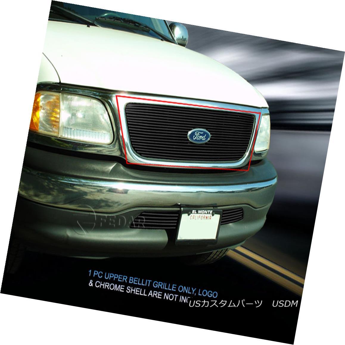 グリル 99-03 Ford F150 Black Billet Grille Grill Insert Fedar 99-03フォードF150ブラックビレットグリルグリルインサートフェルダー