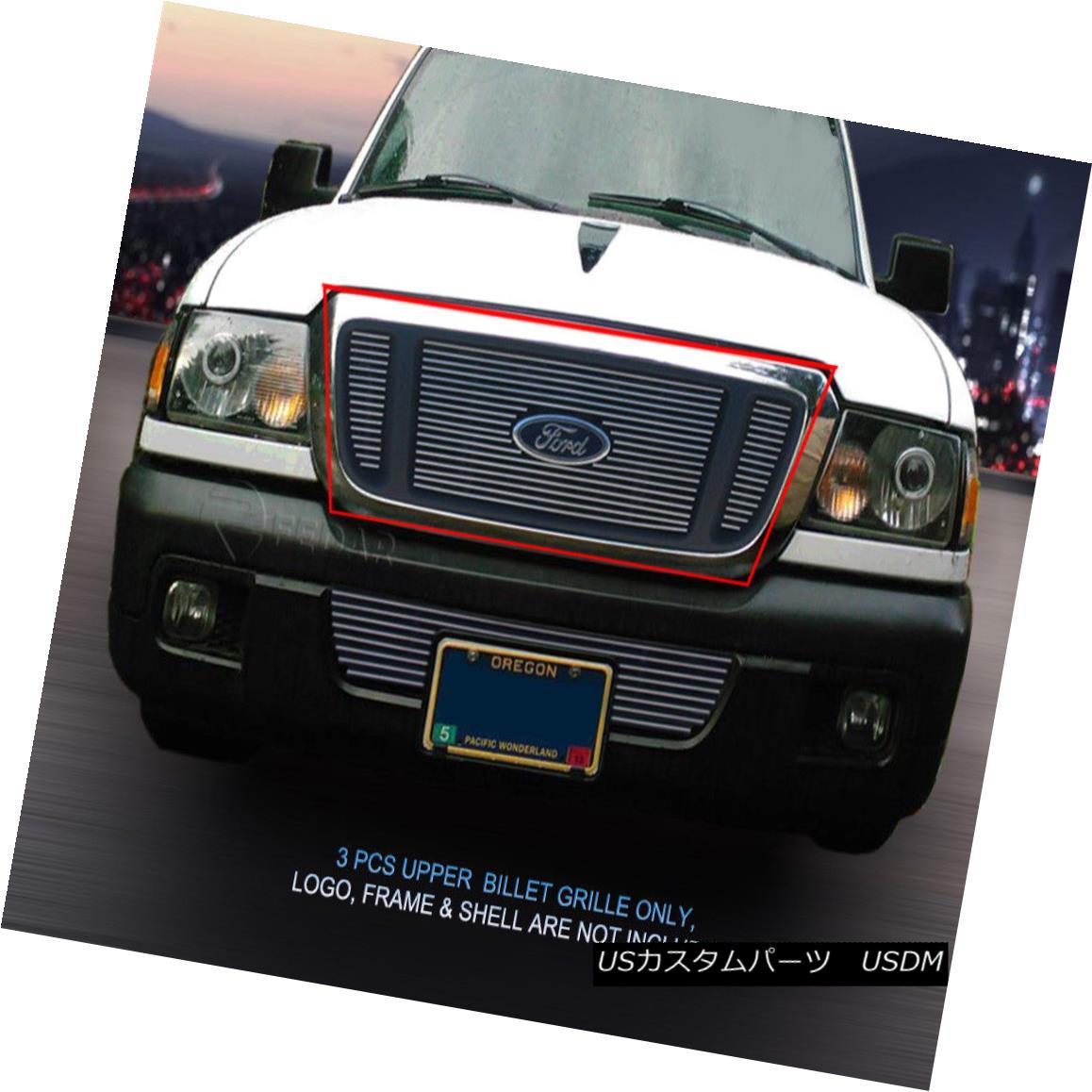 グリル Fedar Fits 2004-2005 Ford Ranger 4WD FX4 Polished Main Upper Billet Grille Fedar Fitting 2004-2005フォードレンジャー4WD FX4 Polished Main Upper Billet Grille