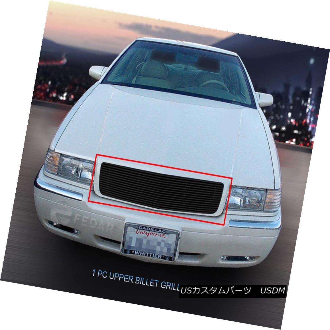 グリル Fits 1995-2002 Cadillac El Dorado Black Billet Grille Main Upper Insert Fedar フィット1995 - 2002キャデラックエルドラドブラックビレットグリルメインアッパーインサートフェルダー