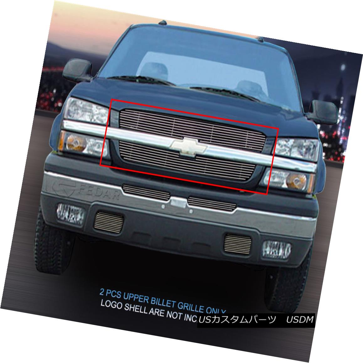 グリル Fedar Fits 03-05 Chevy Silverado/02-06 Avalanche Polished Upper Billet Grille Fedar Fits 03-05 Chevy Silverado / 02-0 6アバランシェ・ポリッシュ・アッパー・ビレット・グリル