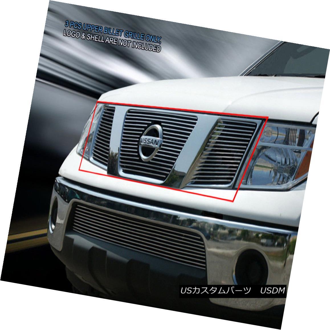 グリル Fits 05-08 Nissan Pathfinder Frontier Billet Grille Grill Insert Fedar フィット05-08日産パスファインダーフロンティアビレットグリルグリルインサートフェルダ