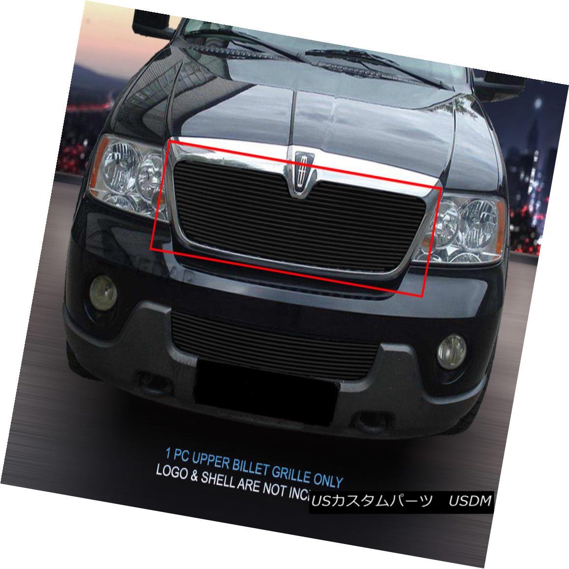 グリル 03-04 Lincoln Navigator Black Billet Grille Grill Upper Insert Fedar 03-04リンカーンナビゲーターブラックビレットグリルグリルアッパーインサートフェルダー