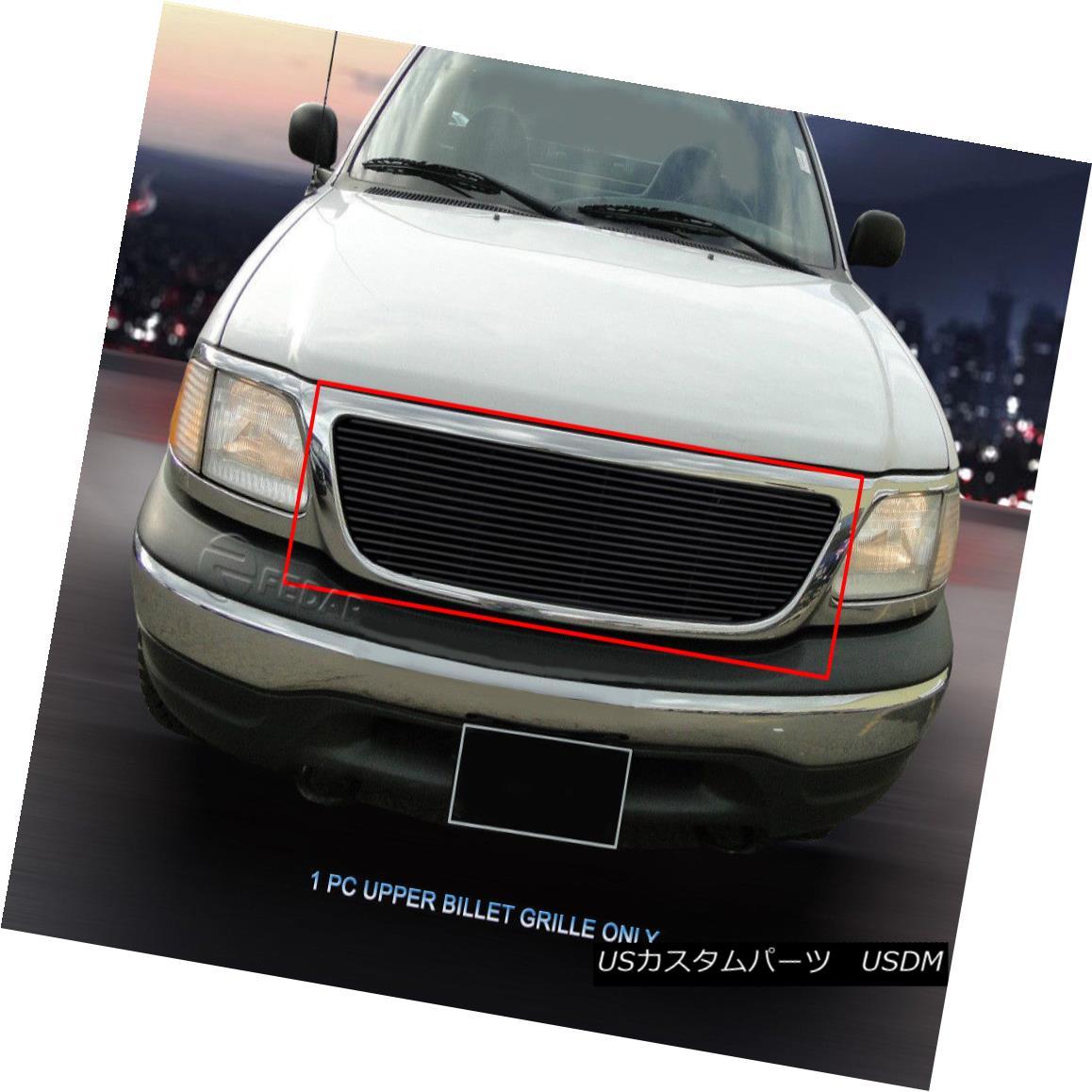 グリル 99-04 Ford F-150 F150 Black Billet Grille Grill Insert 2 Bar Style Fedar 99-04 Ford F-150 F150黒ビレットグリルグリルインサート2バースタイルFedar