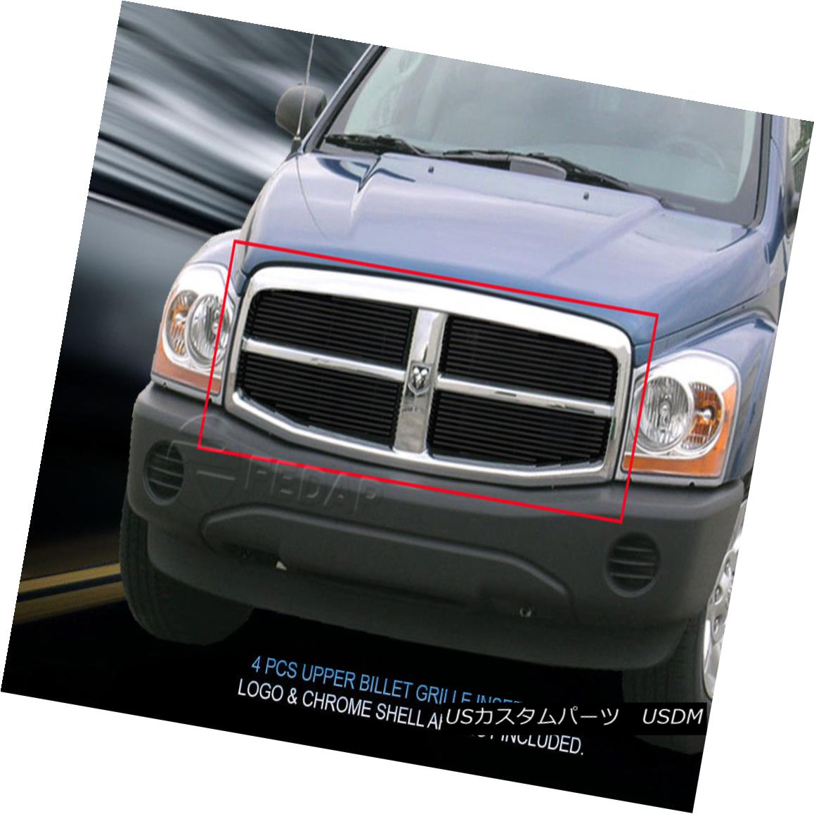 グリル Fedar Fits 2004-2006 Dodge Durango Black Main Upper Billet Grille Fedar Fitting 2004-2006 Dodge Durango Blackメインアッパービレットグリル