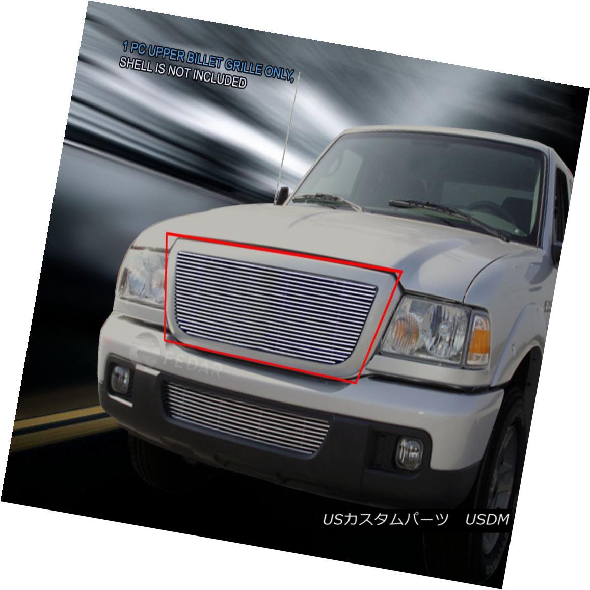 グリル For 2006-2012 Ford Ranger Replacement Billet Grille Upper Grill Insert Fedar 2006?2012年フォードレンジャー交換用ビレットグリルアッパーグリルインサートFedar