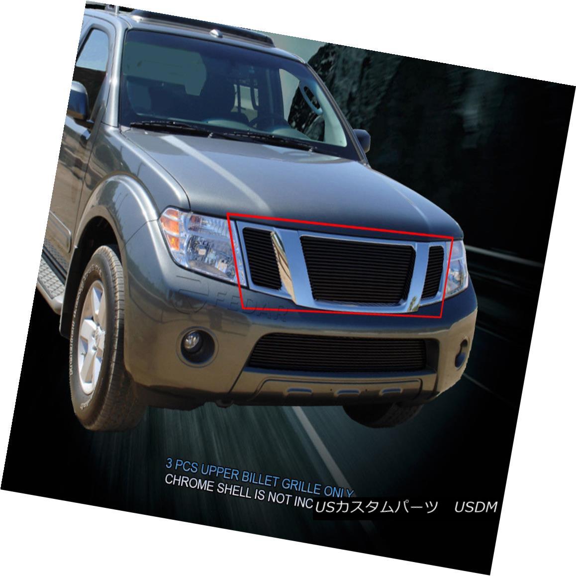 グリル Fedar Fits 2008-2012 Nissan Pathfinder Black Main Upper Billet Grille Fedar Fitting 2008-2012 Nissan Pathfinder Blackメインアッパービレットグリル
