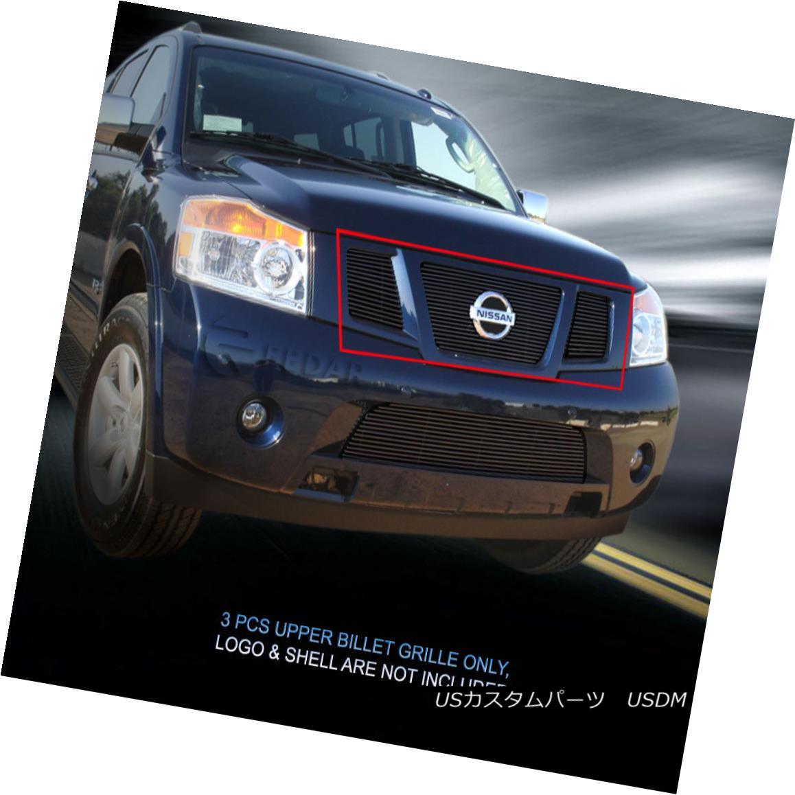 グリル Fedar Fits 2008-2015 Nissan Armada Black Billet Grille Insert Fedar Fits 2008-2015日産アルマダブラックビレットグリルインサート