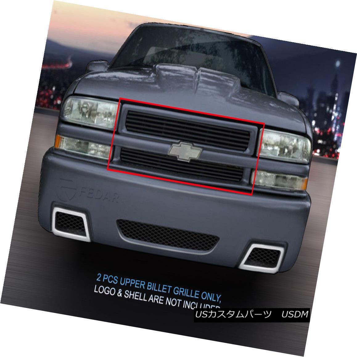 グリル Fedar Fits 98-05 Chevy Blazer/S10 Black Billet Grille Replacement Fedar 98-05シボレーブレイザー/ S10ブラックビレットグリル交換
