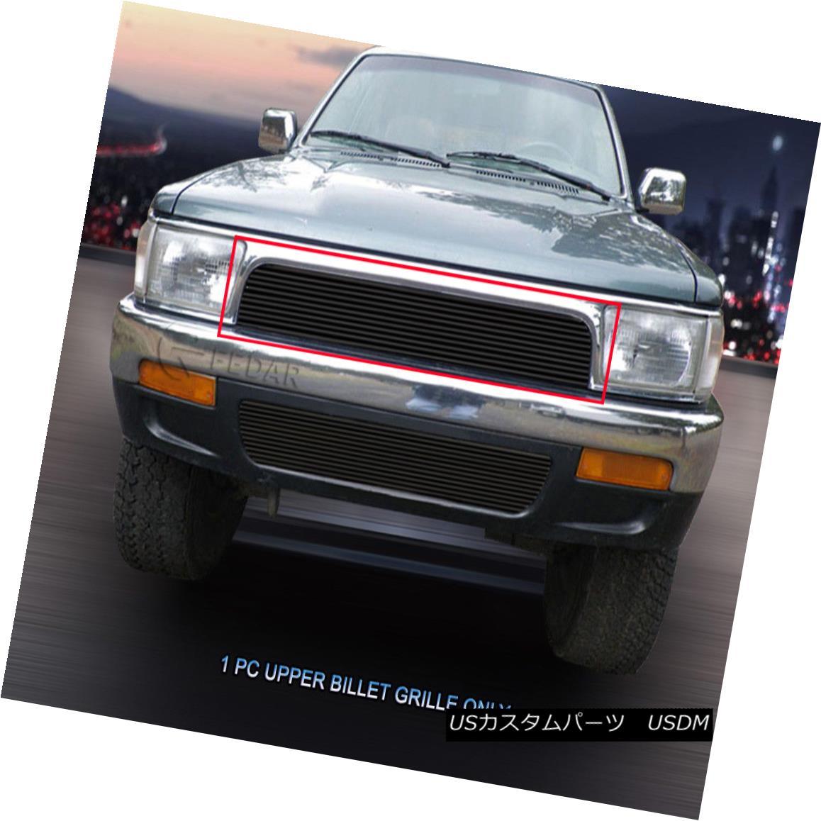 グリル 92-95 Toyota 4Runner Black Billet Grille Grill Upper Insert 1 PC Fedar 92-95トヨタ4Runnerブラックビレットグリルグリルアッパーインサート1 PC Fedar