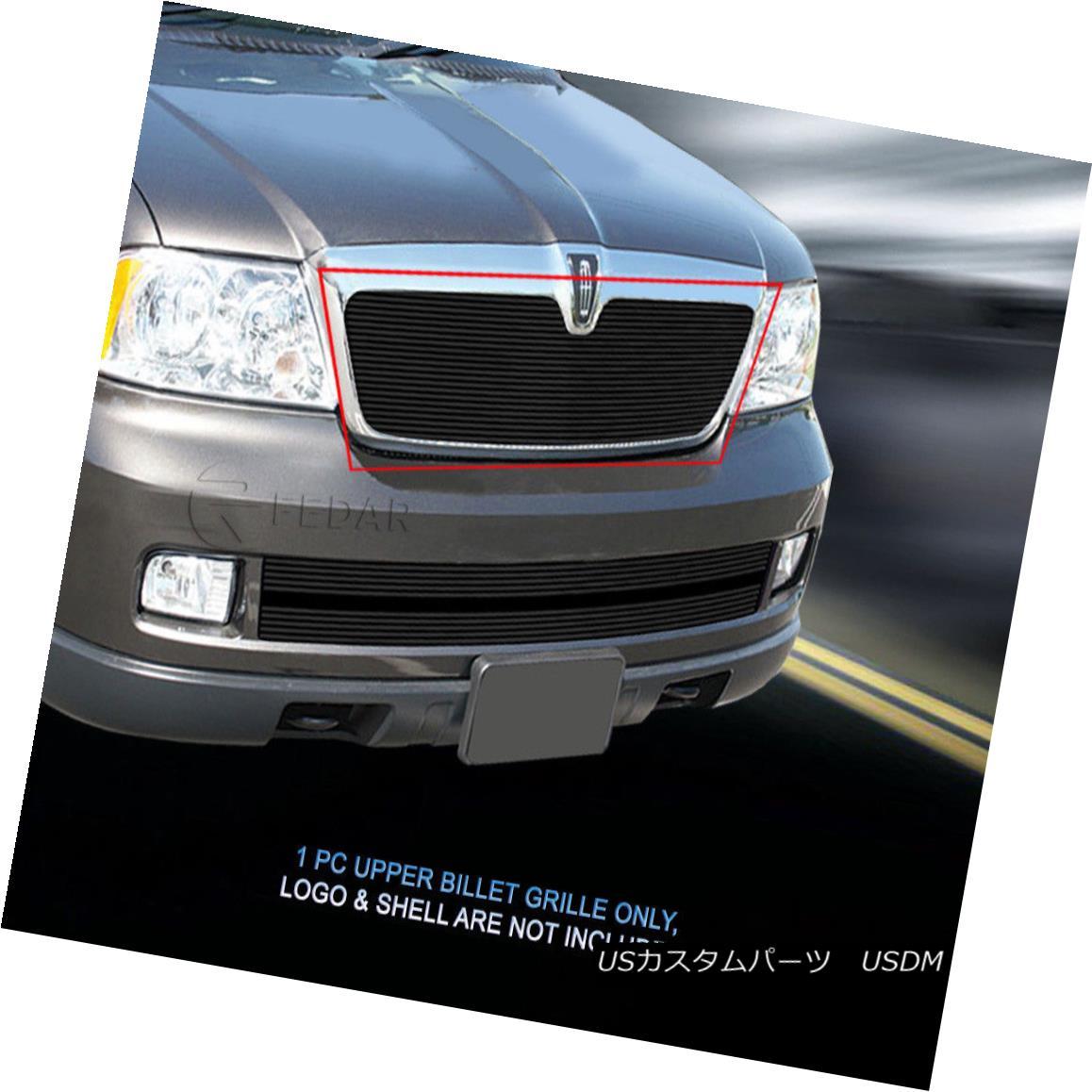 グリル 03-06 Lincoln Navigator Black Billet Grille Grill Upper Insert Fedar 03-06リンカーンナビゲーターブラックビレットグリルグリルアッパーインサートフェルダー